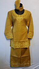 Women Clothing Traditional Dashiki African Skirt Set Style #70 Mustard One Size
