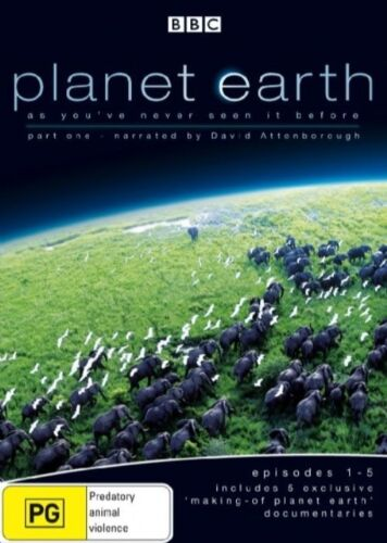 1 of 1 - Planet Earth  (DVD, 2-Disc Set) Episodes 1-5 + 5 documentaries - Region 4