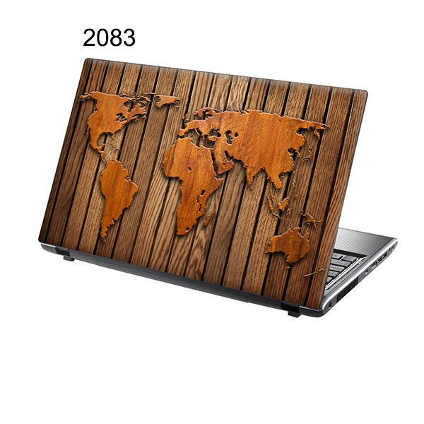 "TaylorHe 15.6"" Laptop Vinyl Skin Sticker Decal Wooden Map 2083"