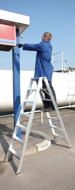 Alumiumleiter, 2 x 6 Stufen,Stehleiter, Tritt,Industrie