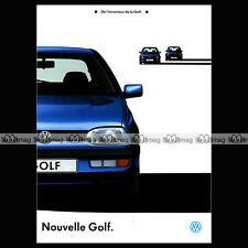 ★ VW VOLKSWAGEN GOLF III MK3 ★ 1991 - Brochure Catalogue Prospekt PUB #BA120