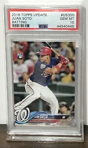 2018-JUAN-SOTO-NATIONALS-TOPPS-UPDATE-ROOKIE-BATTING-US300-PSA-10-GEM-MINT-RC