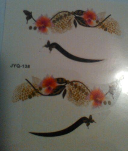 eye TATTOO fancy dress costume EYE makeup,,flowers,butterflys,animal print,cat