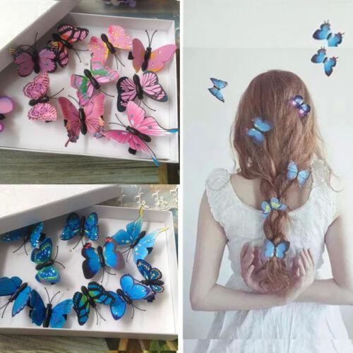 5//10x Schmetterling Haarspangen Braut Haarschmuck Hochzeit Fotografie Kostüm Sg
