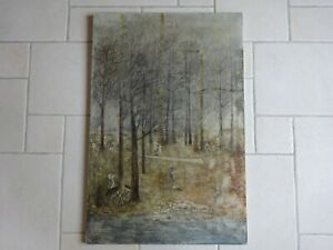 Sonja Rosalie Bauters, Houthakkers 1962, doek, 90 x 60 cm