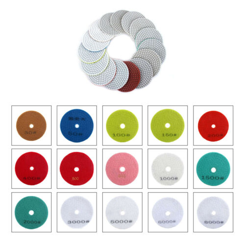 1Pcs 3-4Diamond Grinding Pad Wet/Dry Buffing For Stone Marble 1Pcs 30-8000 Grit