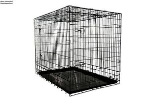 Extra-Large-Dog-Crates-Heavy-Duty-Wire-Metal-Folding-Puppy-Training-Kennel-Cages