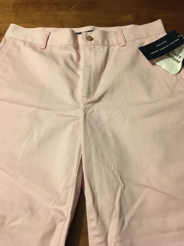 Ralph Lauren Women's Pants Sport Pink Crop Trouser Style 100% Cotton Size 6 NWT