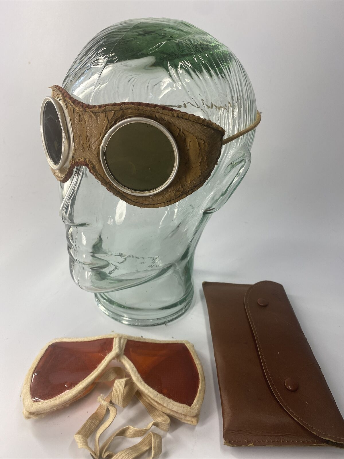 2 Cosplay Steam Punk Costume Vintage Antique Goggles Safety Glasses