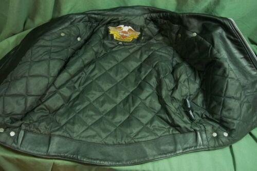 18l026 jas Made Harley maat Usa 14 zwart Davidson lederen v7g6yYbf