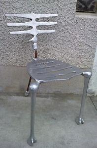 ... rare-chaise-SKELETON-chair-fonte-aluminium-design-MICHAEL- & rare chaise SKELETON chair fonte aluminium design MICHAEL ARAM signé ...