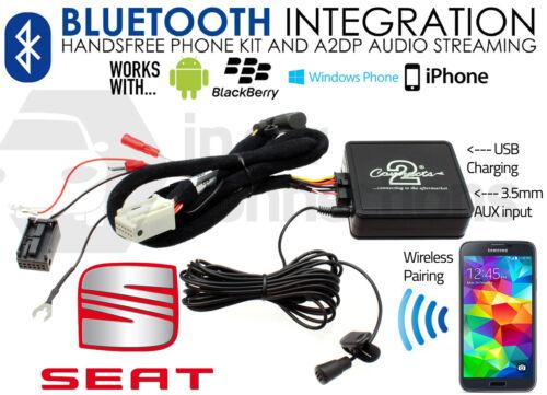 Asiento Bluetooth streaming llamadas de manos libres ctastbt002 Usb Aux Iphone Sony Samsung