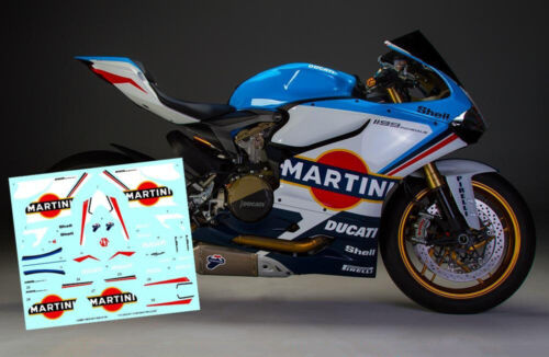 1:12 Ducati 1199 Panigale S Decals Set Martini Racing For Tamiya 14129