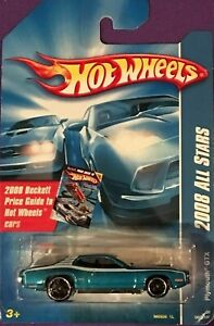 Hot Wheels 2008 Tout Stars Plymouth GTX Beckett Prix Carte 1:64 Echelle