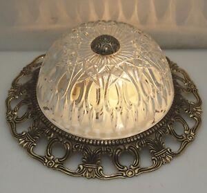 Decken-Lampe-Antik-Stil-Plafoniere-25cm-Flush-Mount-Dome-Led-Light-Ceiling-Lamp