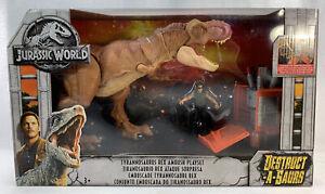 Jurassic World Destruct-a-Saurs Tyrannosaurus Rex Ambush playset Mattel  2017