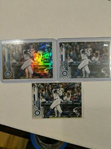2020 Topps Update Kyle Lewis Gold Foil Parallel Jumbo Exclusive & 2 RC Lot (3)