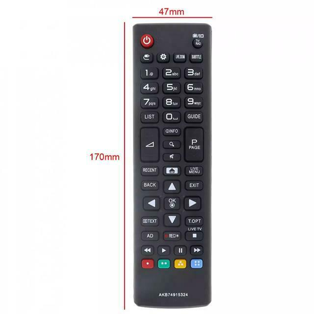 Replacement For LG Remote Control for DEL TVs with Smart&My Apps Button