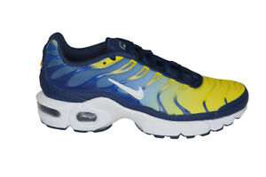 Dettagli su Adolescenti Nike Tuned 1 Air Max Plus (GS) TN 655020420 Blu Giallo Ossidiana