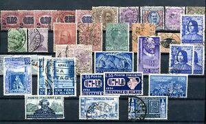 Italien-Lot-aus-1878-1952-gest-41-Briefmarken