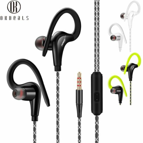 Wasserdichte Kopfhörer Sport Lauf Kopfhörer Stereo Bass Headset mit Mikrofon NEU
