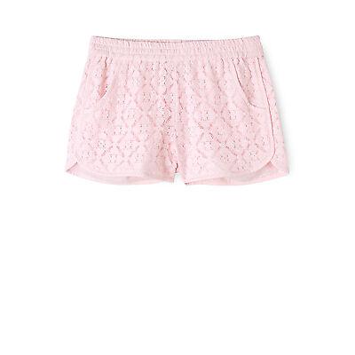 NEW Tilii Crochet Lace Short - Pink Lt Pink