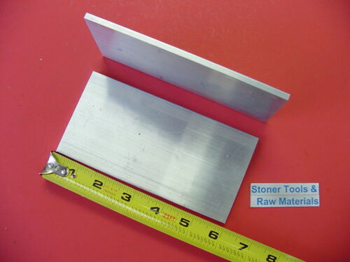 "2 pieces 1//2/"" X 5/"" ALUMINUM 6061 Flat Bar 6/"" LONG T6511 .500/"" Plate Mill Stock"