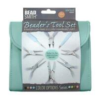 Beadsmith 8 Fashion-light Blue Tool Set For Making Jewelry With Coordinated Clut on sale