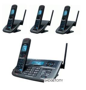 uniden xdect r r055 3 2 line digital cordless phone 4 handsets total rh ebay com Uniden Surveillance System Install Uniden Digital Answering System Manual