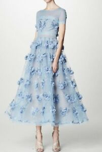 2b35a264131bd Image is loading Marchesa-Notte-Floral-Appliqued-Lace-Gown-6-1195