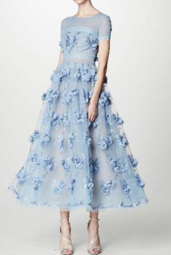 Notte Floral kanten jurk101195 Marchesa geappliqueerde vOn0N8ymw