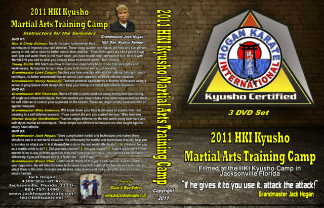 2011 Kyusho Extreme Self Defense Jack Hogan Karate International Seminar 3 DVDs