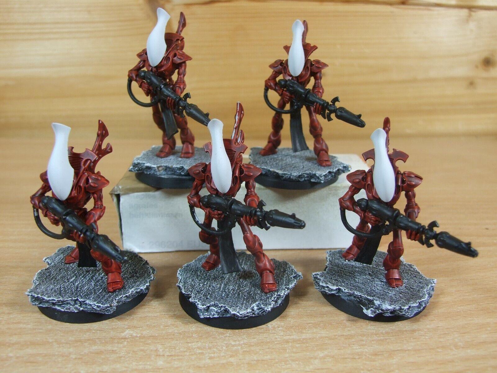 5 plastica WARHAMMER eldar Wraithguard dipinto (1249)