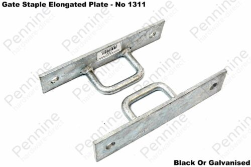 GATE STAPLE ELONGATED PLATE No 1311 Chain Anchor Slip Rail Bracket