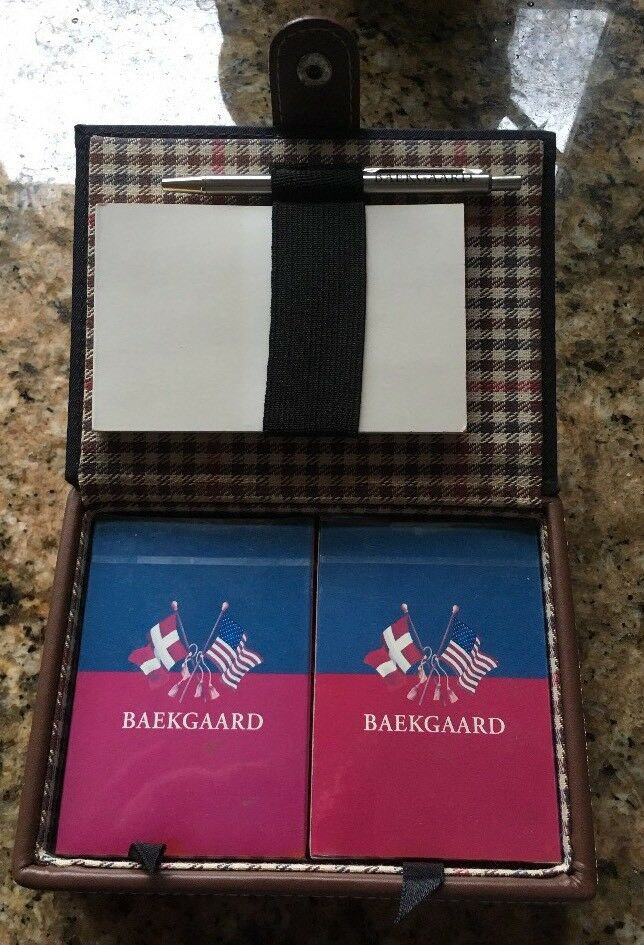 Baekgaard Rare Card Set & Notepad In Hard Case New