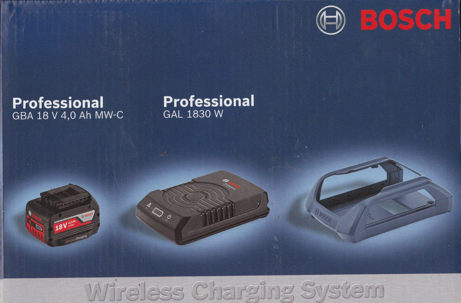 Bosch Set WIRELESS batteria 18V 4 Ah + CARICABATTERIE WIRELESS GAL 1830 W boch