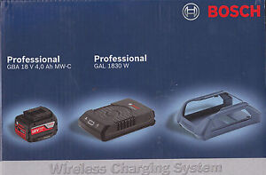 Bosch-Set-WIRELESS-batteria-18V-4-Ah-CARICABATTERIE-WIRELESS-GAL-1830-W-boch