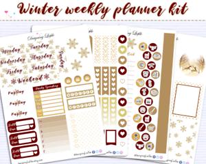 7 Sheet Weekly Planner Sticker Kit for use with ERIN CONDREN LIFEPLANNER\u2122 Wintersleep  Planner Stickers