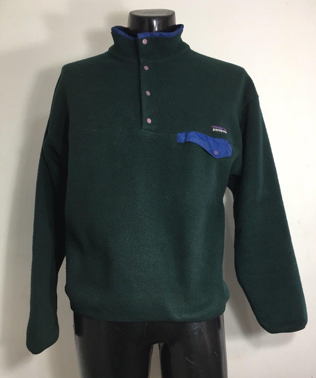 Vintage Patagonia Men's Snap T Grün Fleece Pullover Größe XL