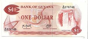 Guyana-1-dollar-1992-FDS-UNC-pick-21-g-lotto-3722