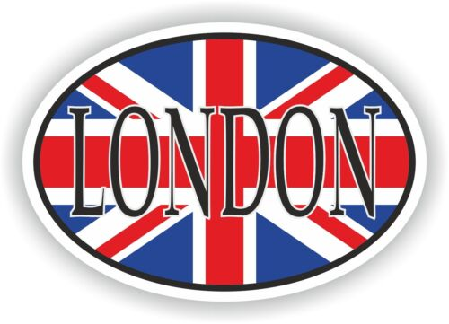 OVAL Jack FLAG WITH London City of UK STICKER CAR MOTOCYCLE TRUCK