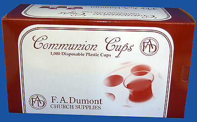 Plastic Disposable Communion Cups Box of 1000