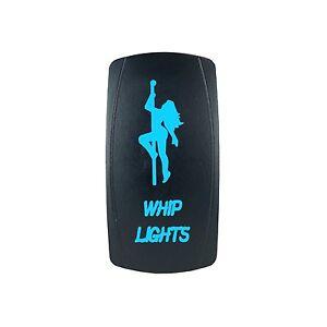 Laser WHIP LIGHTS Rocker Switch ON-OFF led Light 20A 12V 5pin BLUE
