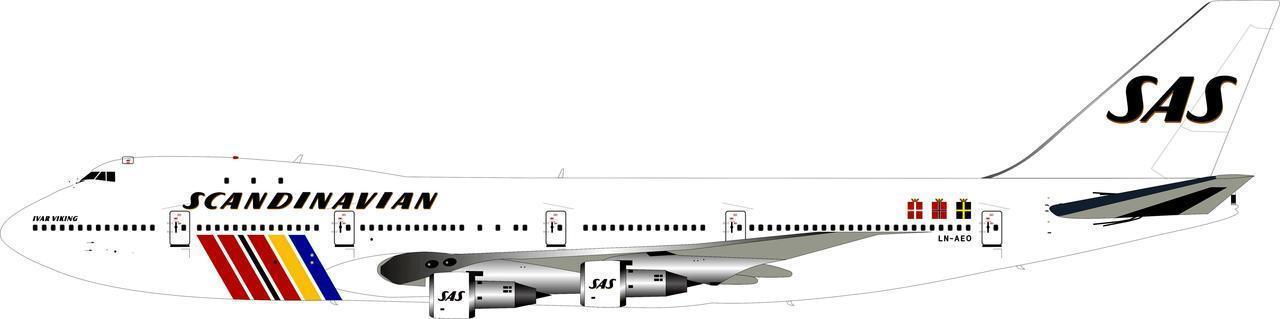 Fliegender 200 If742sas0618 1 200 200 200 SAS Boeing 747-200 Ln-Aeo Ivar 7e016b