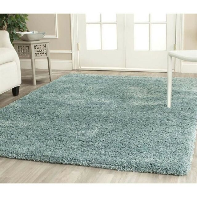 Safavieh California Shag Medium Rectangle Area Rug 5 3 X 7 6 Light Blue For Sale Online Ebay