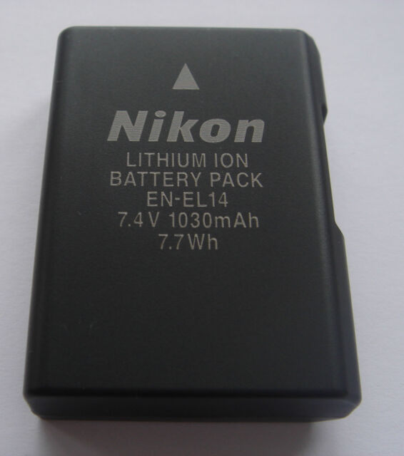 Original Battery Nikon EN-EL14 EN-EL14A D3100 D3200 D3300 D5100 D5200 D5300