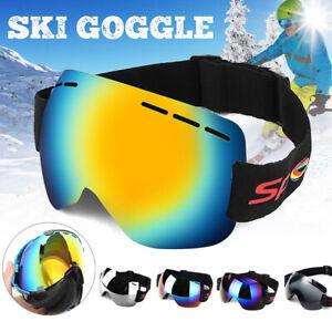 Anti-fog-UV-Skiing-Snowboard-Adult-Goggles-Ski-Sunglasses-Winter-Snow-Glass-H-E