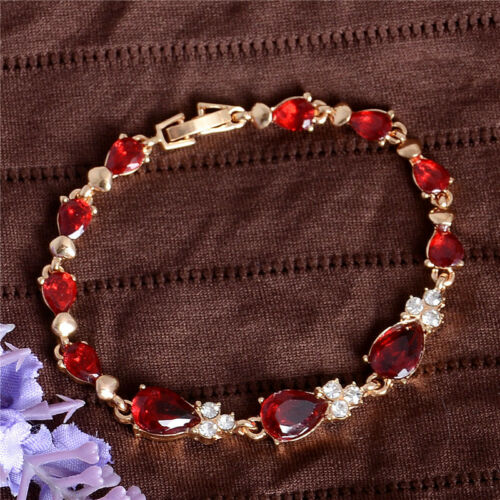 Vente chaude 18k Jaune plaqué or autrichienne Crystal favorables beau bracelet