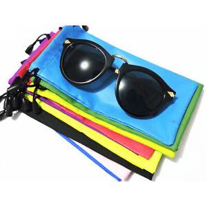 10X-Soft-Microfiber-Pouch-Bag-For-Sunglasses-Eyeglasses-Glasses-w-Drawstring