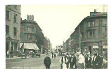 St John William Street Huddersfield RARE postcard  vintage 1900's, trams, Bazaar
